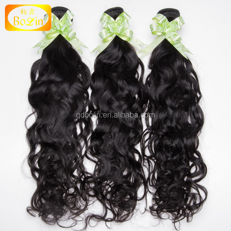 Wholesale top quality natural water wave 100% virgin brazilian human hair with lace closure фото