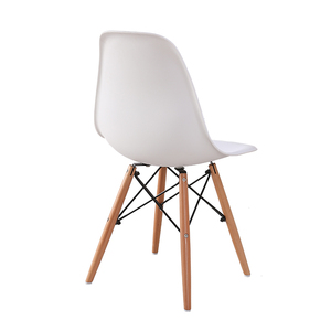 Modern Kitchen Restaurant Furniture Dining Chair China Factory Chair Sillas Plasticas with Solid Wood Legs