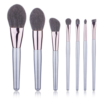 Free Sample Makeup Brushes Set 7pcs Professional Synthetic Cruelty Free Bristles Foundation Powder Blush Cosmetic Brushes