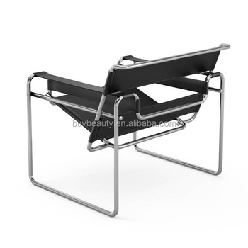 Moderne En Cuir Marcel Breuer Chaise Wassily