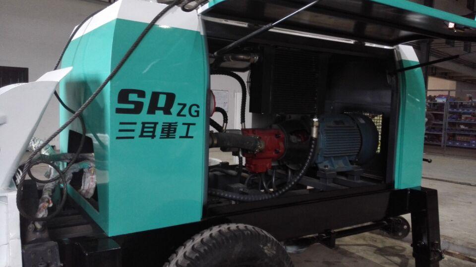 Pequeno Diesel Bombas de Concreto de Reboque de Controle Remoto Para A Venda