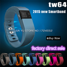 New tw64 Smartband Smart bracelet Wristband Fitness tracker Bluetooth 4.0f  flex Watch for ios android better than mi band