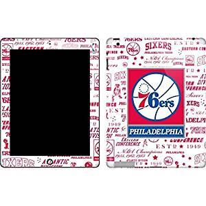 NBA Philadelphia 76ers New iPad Skin - Philadelphia 76ers Historic Blast Vinyl Decal Skin For Your New iPad