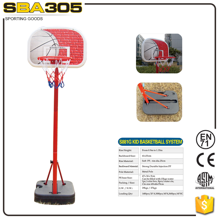 kids toy sport set games basketball stand