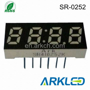 0.25 inch 4 digit small 7 segment led display