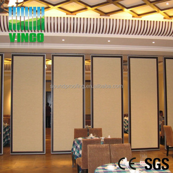 Acoustic Folding Movable Partition Faced Fabric Sliding Doors