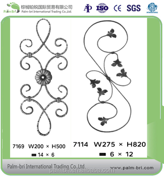 customized wrought iron piles and rosettes for security fencing on whole sale in China