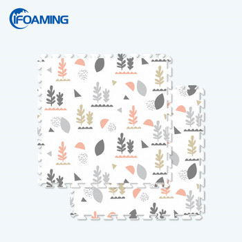 6ft x 4ft Eco Printing Soft EVA Foam Puzzle Play Mat 6PCS Interlock Floor Crawling Pad