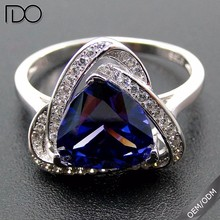 High quality promotion zircon 925 real silver jewelry ring