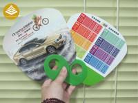 Custom School Advertising Ideas Printed Logo Design Pp Hand Fan As ...