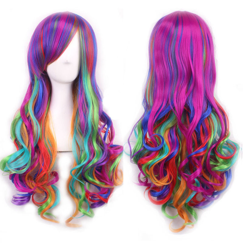 European and American style harajuku 70cm long curly wigs synthetic Color Mixed lolita wig cheap wigs  sc 1 st  Alibaba & Cheap Cheap Clown Wigs find Cheap Clown Wigs deals on line at ...