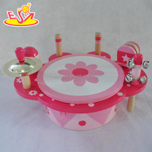<span class=keywords><strong>Groothandel</strong></span> educatief houten speelgoed <span class=keywords><strong>drum</strong></span> set voor kids W07A108