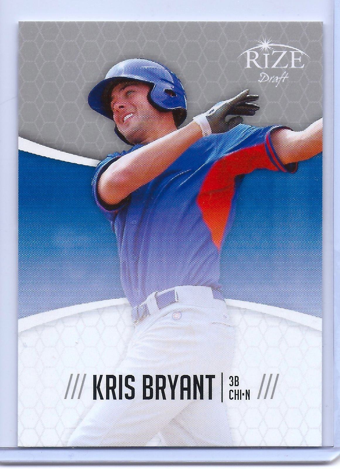 "KRIS BRYANT 2014 LEAF ""RIZE"" DRAFT CHICAGO CUBS ROOKIE CARD! 2015 ROOKIE OF THE YEAR!"