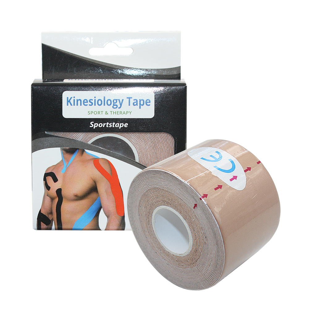 wholesale muscle pain relief 5cm*5m nylon 4 way stretch kinesiology tape, Orange/purple/green/yellow/blue/skin/black/white/red/cyan/pink/