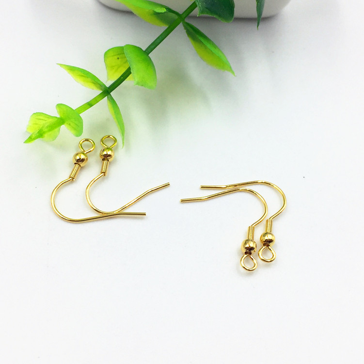 S1058 <strong>Gold</strong> Plated Stainless Steel <strong>Earring</strong> Fish <strong>Hook</strong> with Ball ,<strong>Gold</strong> French Earwires