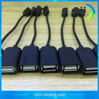 high quality portable Super Price Micro USB B Male to USB 2.0 A Female OTG Data Host Cable