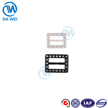 dawei brand factory wholesale fashion design resin material custom belt buckles for clothing
