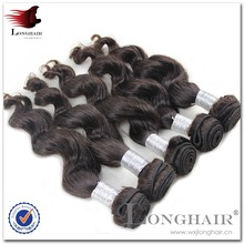 Unique Hairstyle And Look Fashionable 2# Color factory price indian remy virgin hair extension
