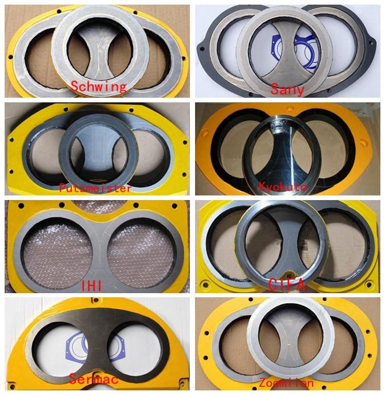 Schwing concrete pump parts DN200 wear plate and cutting ring