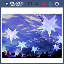 inflatable hanging star, colourful star balloon, led light star