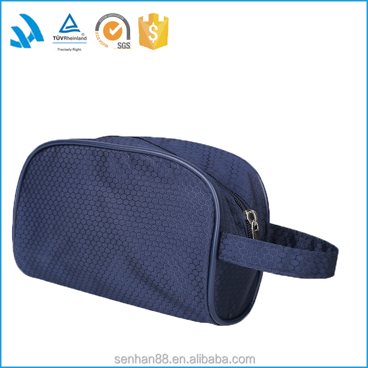 Fashion Simple design Polyester travel cosmetic bag for toilet