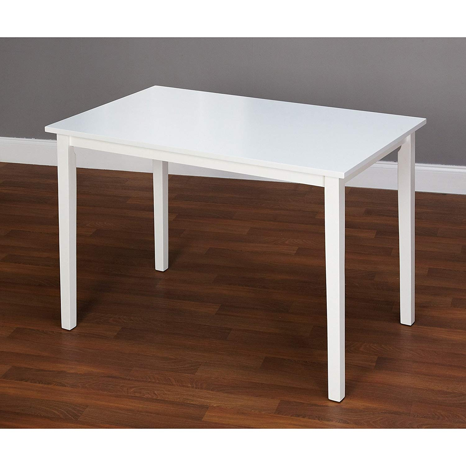 Contemporary Design Functional Dining Table, Sturdy MDF and Durable Rubber Wood Materials, Makes an Outstanding Kitchen Nook or Living Room Table, Seats Up to Four People Comfortable + Expert Guide