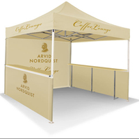Outdoor indoor event trade exhibition tent full wall and half sides banner tent