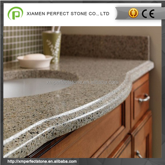 China Ogee Edge Polished Cheap Granite Prefab Countertops Price