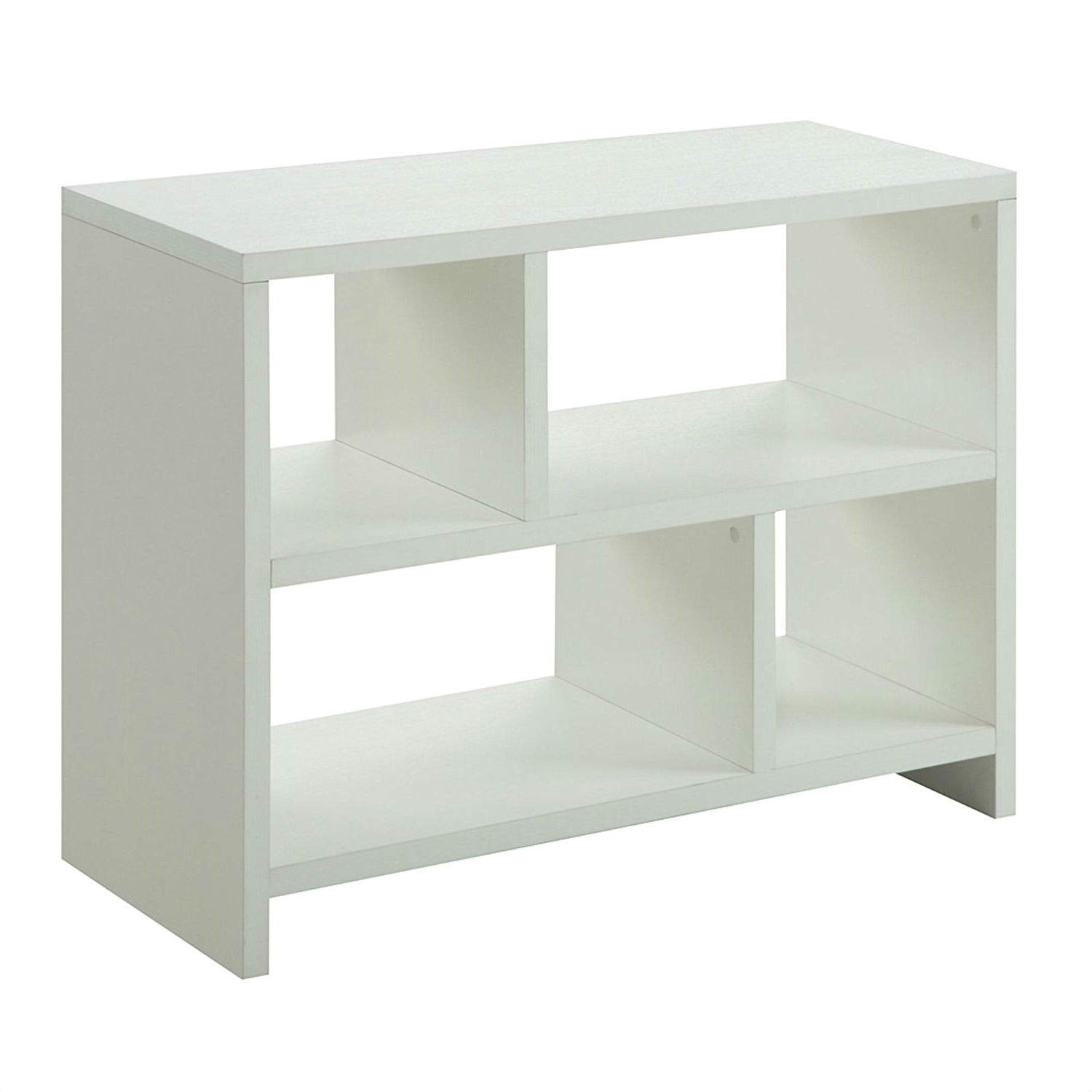 Trustpurchase White 2-Shelf Modern Bookcase Console Table, Modern Design of This White 2-Shelf Modern Bookcase Console Table Will Complete The Look of The Contemporary Home, Fits Easy with Any Décor