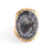 Fashion Design Diamond Engagement Crystal Gemstone Druzy Natural Stone Gold Plated Ring
