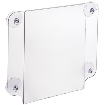 Acrylic Double-sided Window Sign Holder with Suction Cups