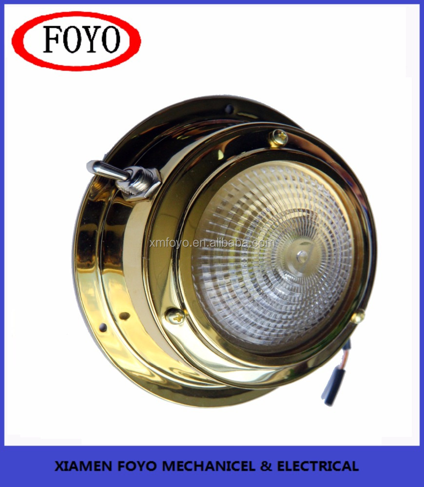 2017 China 304 marine stainless steel Brass Dome Light