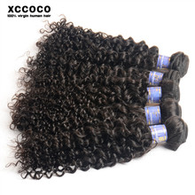 Alibaba Factory Supply No Mix Remy Hair Extension Weave, Different Types of Curly Weave Hair