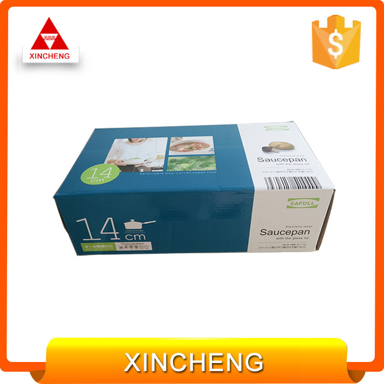 Custom paper box packaging for kitchen appliances - stainless steel pot paper box