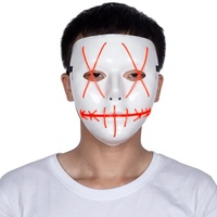 New design Halloween el wire mask Description party mask plastic LED light purge mask