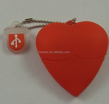 Hot Selling Heart-shaped customized pvc USB 8gb Flash Drive,Promotional Gifts bulk 8gb usb flash drive Wedding Gift