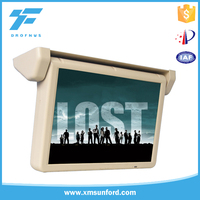 Roof fixing 17 inch display monitor LCD tv screen bus flip down TFT LCD monitor
