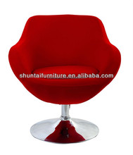 High quality modern red fabric swivel leisure chair comfortable commerical living room chair