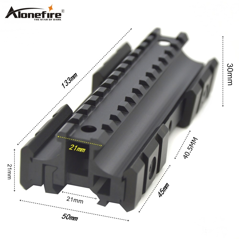 Alonefire Y3002 21mm Rail Extend Increase Airsoft Rifle Shot gun Tactical Picatinny Weaver Laser Sight Scope Light MP5/G3 mounts, Black