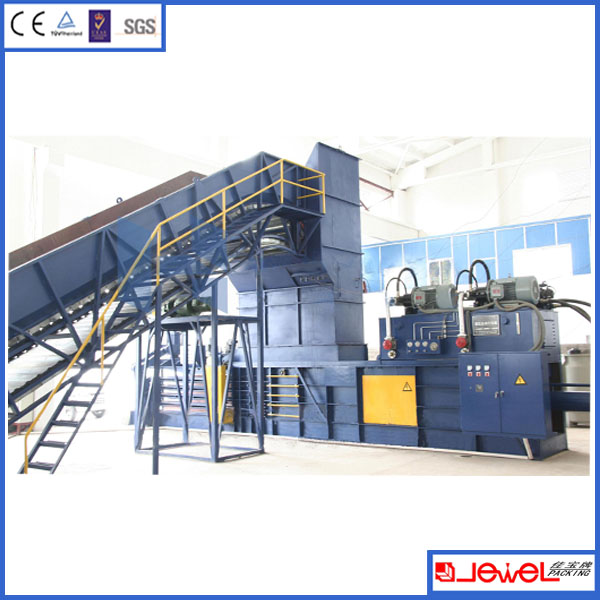 Nike' s Supplier Full-automatic Paper Recycling Baler with Conveyor