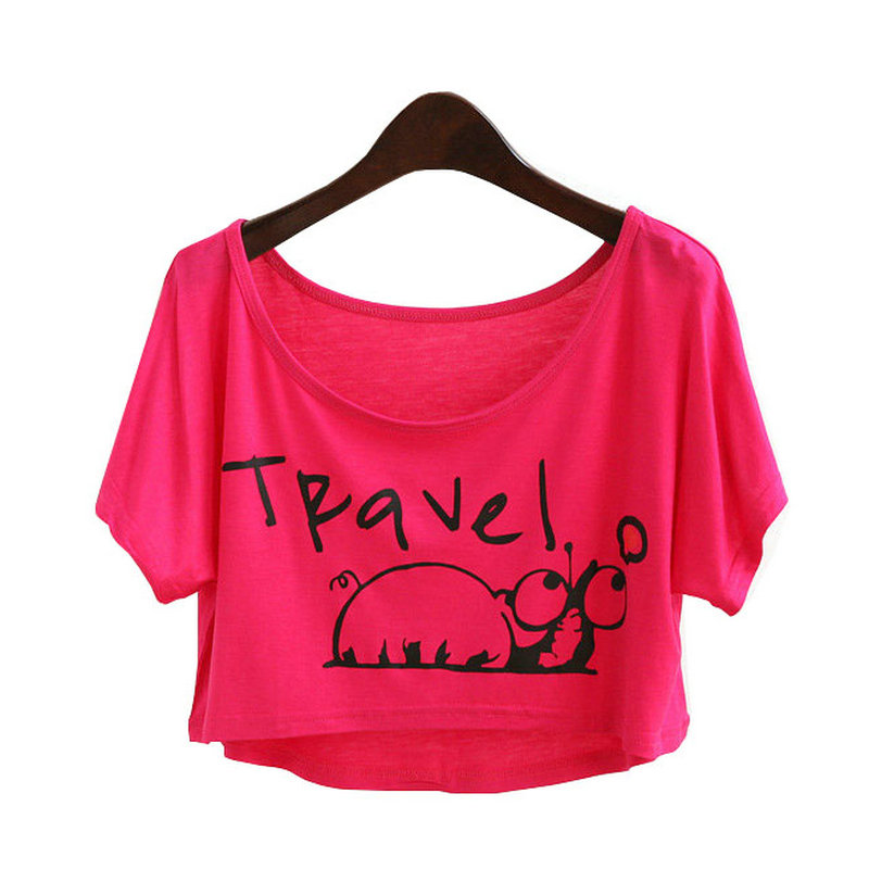 7a363b61fdfce Get Quotations · crop top white t-shirt letter print cotton tee shirt  cropped casual womens summer tops