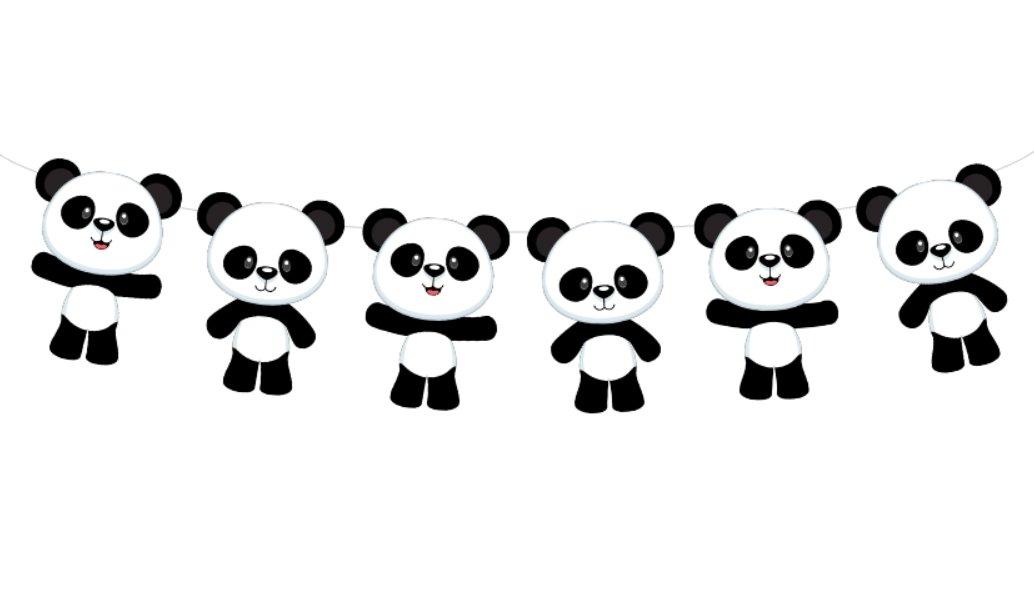 Panda Bear Garland, Panda Bear Banner, Panda Bear Baby Shower, Panda Bear Birthday Party, Panda Bear Decorations