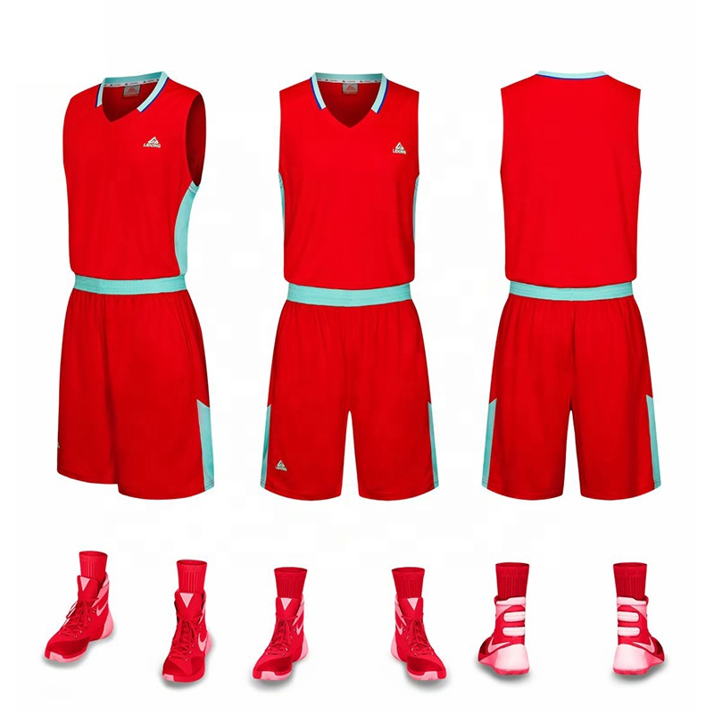 Jugend Uniformen Großhandel Billig Reversible Basketball Uniformen Neue Design Basketball Trikots