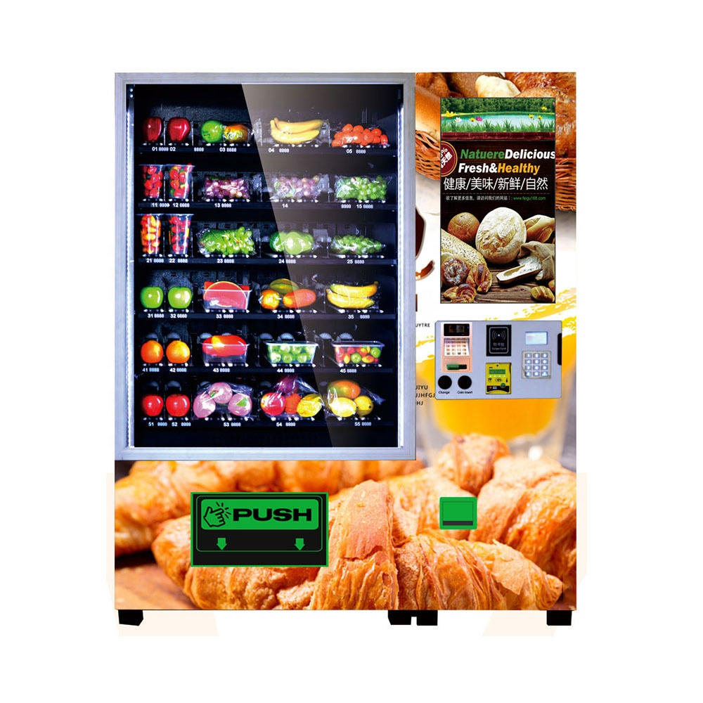 Lebanon automatic bread and burger vending machine with 66 selections