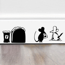 mouse hole wall sticker fall in love decals Stickers Home kids room mural font b christmas