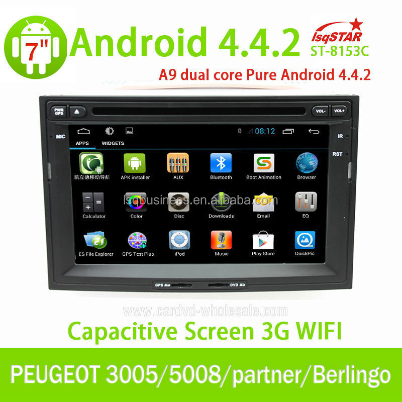 7 Inch Touch Screen Peugeot 3008/5008 Car dvd player Radio with GPS Navigations canbus box USB,SD,Bluetooth,Radio,mp3