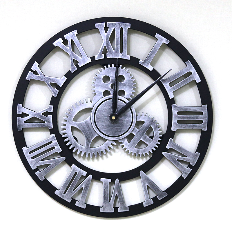 Customize Logo Decorative Metal Large Wall Clock Home Decoration for Living Room