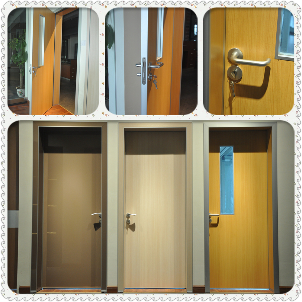 Aluminum Frame Mdf Panel Door Double Panels Inteiror Door For Office Buy Double Panel Mdf Door