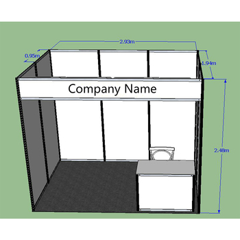 Exhibition Stand Drawing : 3x3standard exhibition booth with measurement booth exhibition