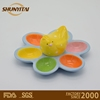 Cute Ceramic Egg Tray Holder Dish hen On Top six Easter Deviled Eggs